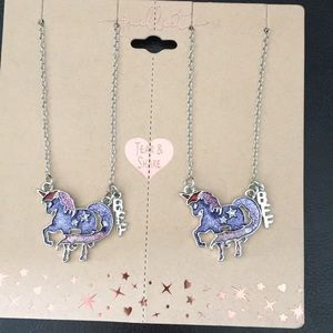 New Girls Pair BFF Unicorn Necklaces for Sharing
